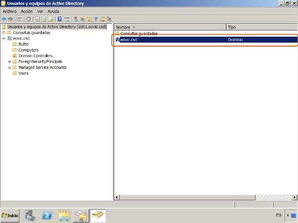 El directorio de Active Directory