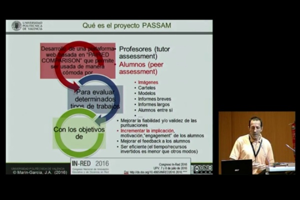 INRED2016. PASSAM: Peer ASSessment And Monitoring system - Juan A. Marín