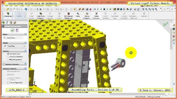 Creación Virtual Modelo Lego Technic 8862-1 ¿ Montaje Modelo ¿ 02 de 44