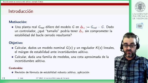 Márgen de estabilidad ante incertidumbre aditiva: ejemplo Matlab