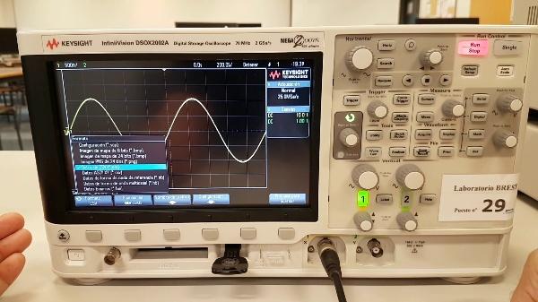 Adquisición de datos osciloscopio KEYSIGHT