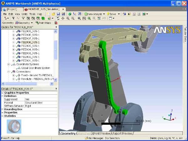 Montaje de un robot ABB con Ansys Workbench. Tramo 04 DE 07
