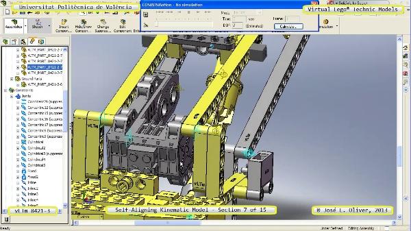 Simulación Cinemática Lego Technic 8421-3 con Cosmos Motion ¿ 07 de 15 - no audio