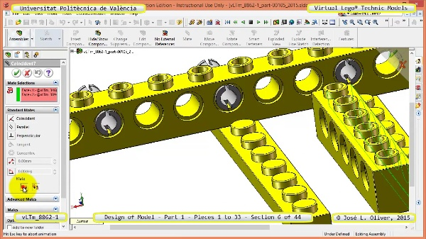 Creación Virtual Modelo Lego Technic 8862-1 ¿ Pieza 1 ¿ 06 de 44