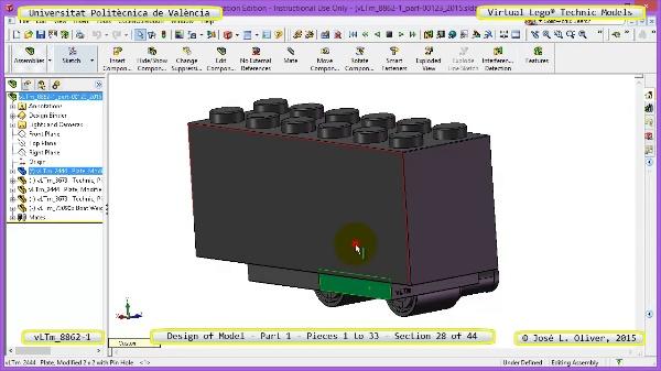 Creación Virtual Modelo Lego Technic 8862-1 ¿ Pieza 1 ¿ 28 de 44