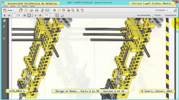 Creación Virtual Modelo Lego Technic 8862-1 ¿ Piezas 2 a 70 ¿ 02 de 36