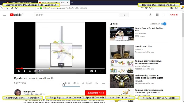 Simulación Cinemática Tang_EquidistantCurvesEllipse1bInv-v8r5 con Recurdyn - AdP-z - 1 de 2