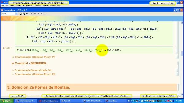 Solución Cinemática Simbólica a_c_0683 con Mathematica -B- 4 de 6