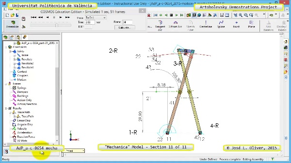 Simulación Mecanismo a-c-0654 con Mechanica - 11 de 11