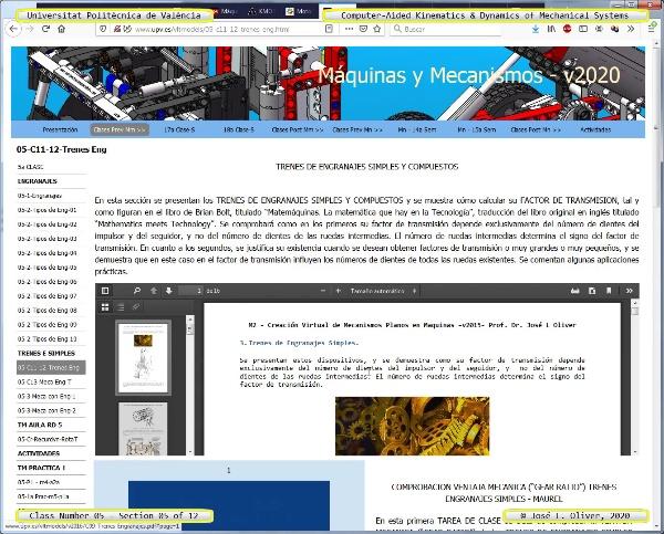 Mecánica y Teoría de Mecanismos ¿ 2020 ¿ MM - Clase 05 ¿ Tramo 05 de 12