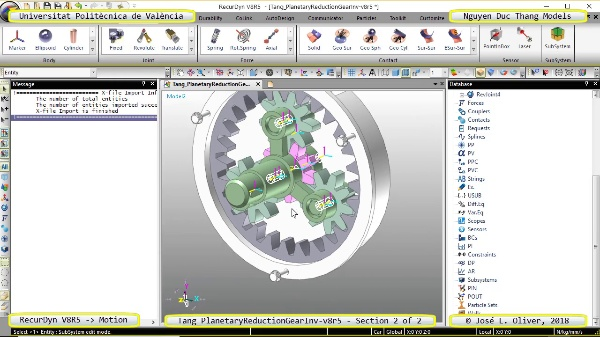 Simulación Cinemática Tang_PlanetaryReductionGearInv-v8r5 con Recurdyn - PlaTa - 2 de 2