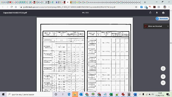 Cálculo de capacidad de un sistema de pistas usando la norma de la FAA 1