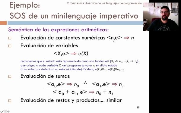 Tema 2. Semántica operacional: expresiones