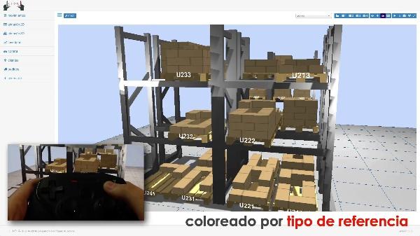 LLOG - navegación e interacción en un almacén mediante realidad virtual