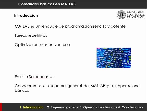 Conceptos básicos de MATLAB