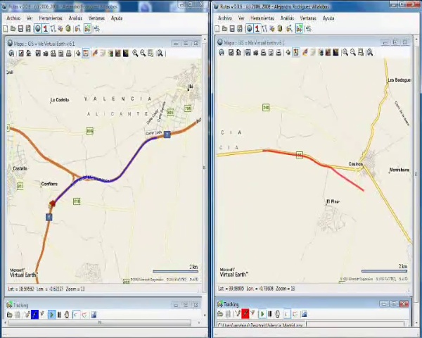 Rutas - multiple vehicle tracking