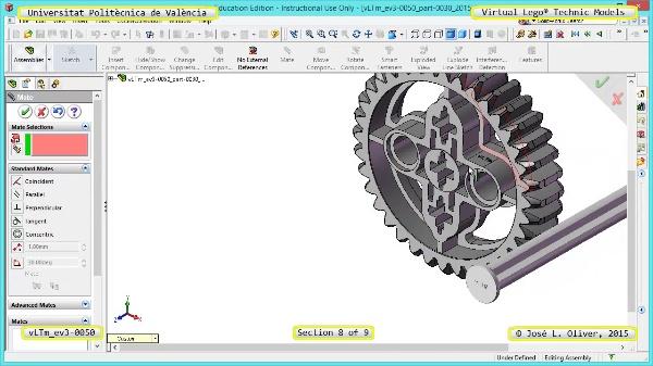 Creación Virtual Modelo Lego Technic - Isogawa ¿ ev3-0050 ¿ 8 de 9