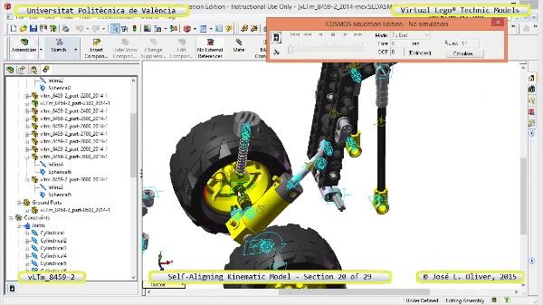 Simulación Cinemática Lego Technic 8459-2 con Cosmos Motion ¿ 20 de 29