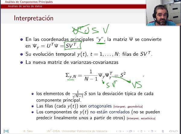 Análisis de Componentes Principales (parte 2: series de datos, teoría)