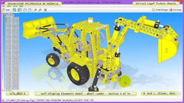 Simulación Cinemática Modelo Lego Technic 8862-1 -Cargador- 09 de 19