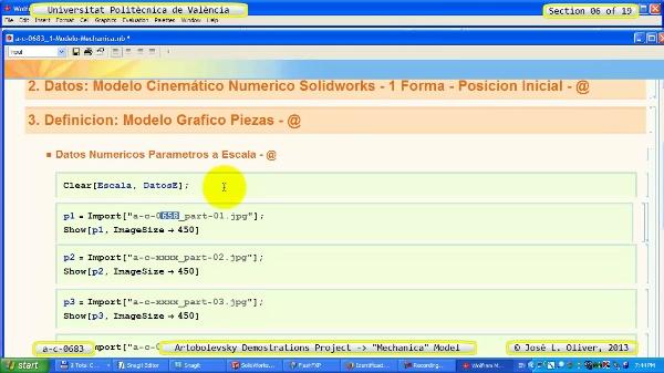 Simulación Mecanismo a_c_0683 con Mechanica - 06 de 19