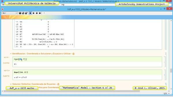 Solución Cinemática Simbólica a-z-1133 con Mathematica - 06 de 26