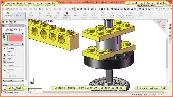 Creación Virtual Modelo Lego Technic 8862-1 ¿ Piezas 2 a 70 ¿ 18 de 36