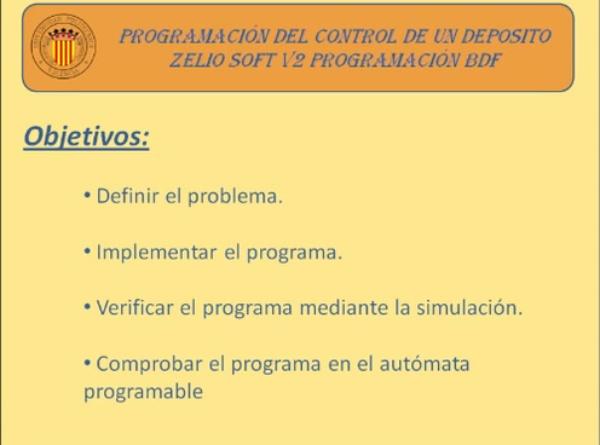 Programación de un Depósito de Agua en BDF