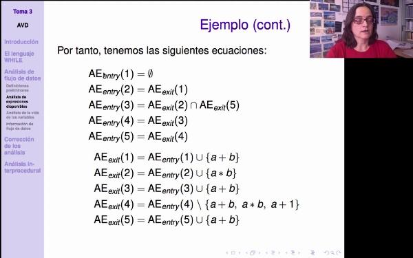 AVD - Análisis de expresiones disponibles: ejemplo
