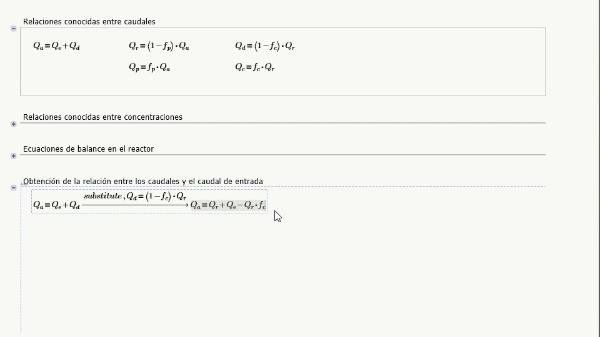 Resolución simbólica con Mathcad del modelo estacionario de un proceso medioambiental