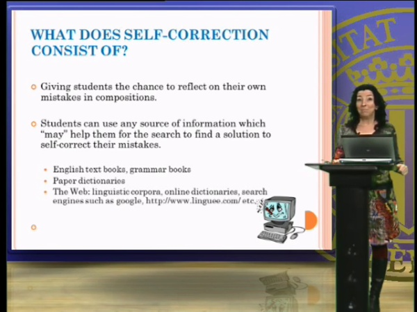 Error self-correction in compositions