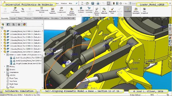 Simulación Dinámica de Cargadora Volvo L70C con Solidworks Motion v2017 - 13 de 16
