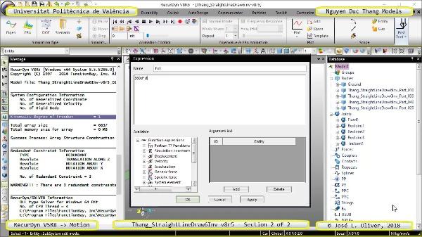 Simulación Cinemática Thang_StraightLineDraw6Inv-v8r5 con Recurdyn - AdP-t - 2 de 2