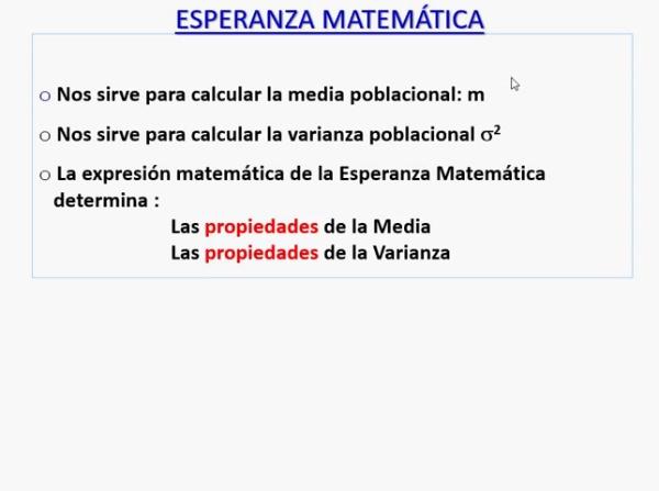 Esperanza Matemática. Variables aleatorias discretas