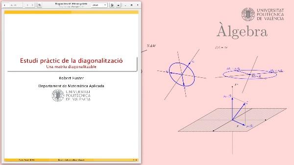 Una matriu diagonalitzable (exemple pràctic)