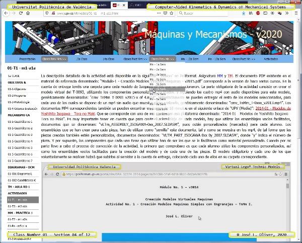 Mecánica y Teoría de Mecanismos ¿ 2020 ¿ MM - Clase 01 ¿ Tramo 04 de 12