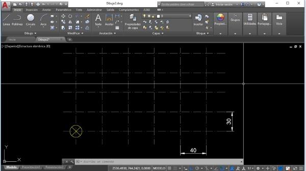 Crear matrices rectangulares con Autocad 2018