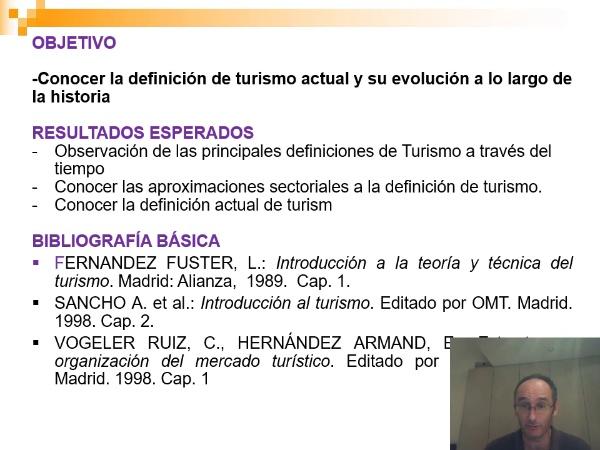 Definición de Turismo