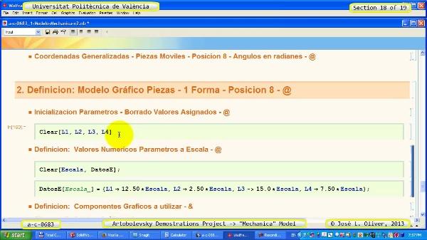 Simulación Mecanismo a_c_0683 con Mechanica - 18 de 19