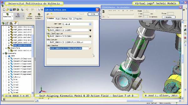 Simulación Cinemática Lego Technic 8868-1-n-03 con Cosmos Motion ¿ 7 de 8 - no audio