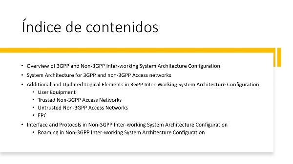 Interconexión non-3gpp