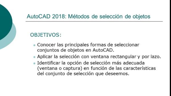 AutoCAD 2018: Métodos de selección de objetos
