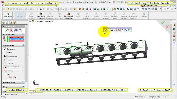 Creación Virtual Modelo Lego Technic 8862-1 ¿ Pieza 1 ¿ 43 de 44