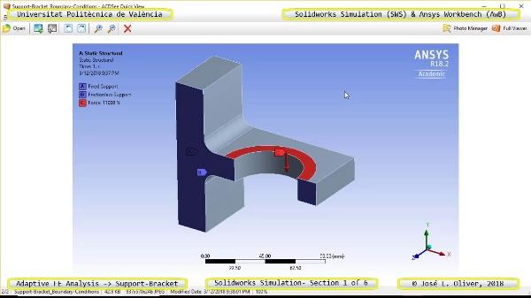 Mallado Adaptativo Pieza Mecánica con Solidworks Simulation v17 - 1 de 6