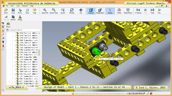 Creación Virtual Modelo Lego Technic 8862-1 ¿ Pieza 1 ¿ 14 de 44