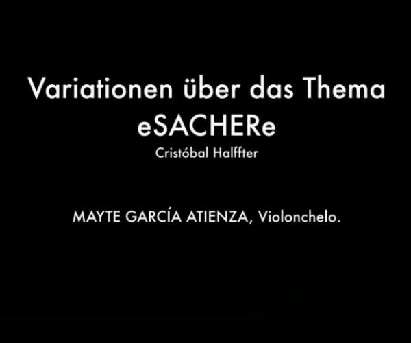 (Audio) Variaciones sobre el tema Sacher para violonchelo solo, C. Halffter / Mayte García Atienza, violonchelo