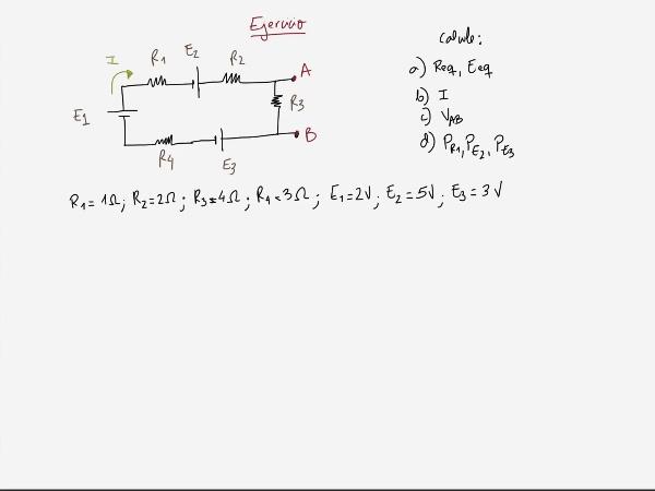 Teoría de Circuitos 1. Lección 3. 1.3.3 Primera ley Kirchoff ejercicio 2