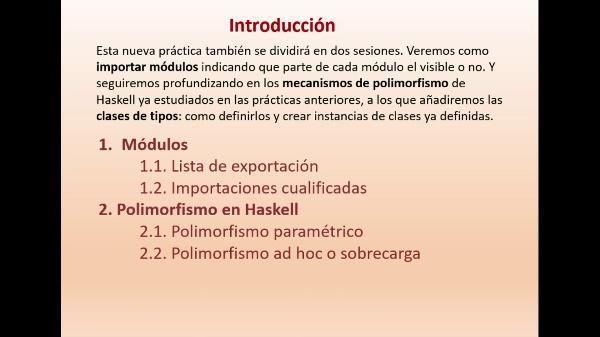 Practica 6 LTP: Módulos y Polimorfismo en Haskell (parte II)
