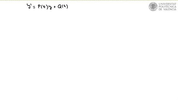 Ecuación diferencial lineal