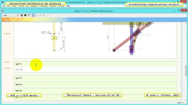 Simulación Mecanismo a-z-1133 con Mechanica - 23 de 29